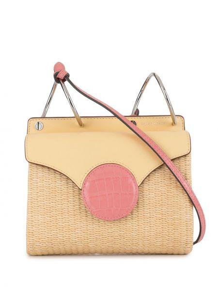 Плетеная желтая маленькая сумка Danse Lente