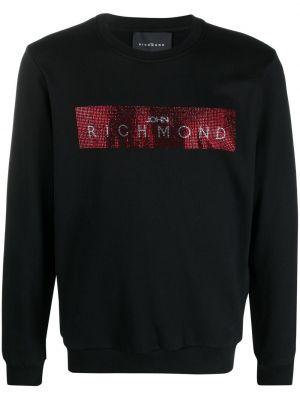 Черная хлопковая кофта John Richmond