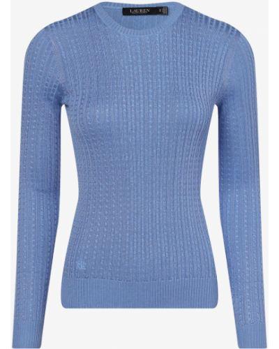 Niebieski sweter elegancki dzianinowy Lauren Ralph Lauren