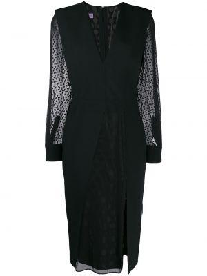Приталенное платье прозрачное с вырезом на молнии Emanuel Ungaro Pre-owned