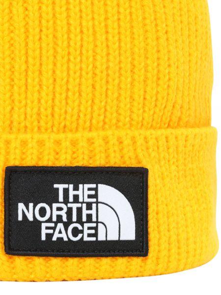 Желтая шапка The North Face
