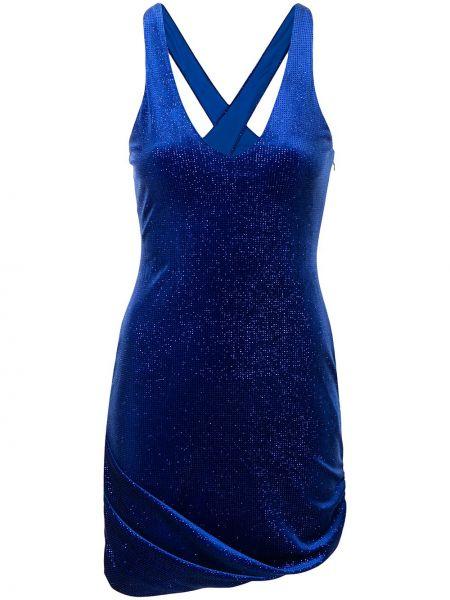 Синее платье мини без рукавов с вырезом Alice Mccall