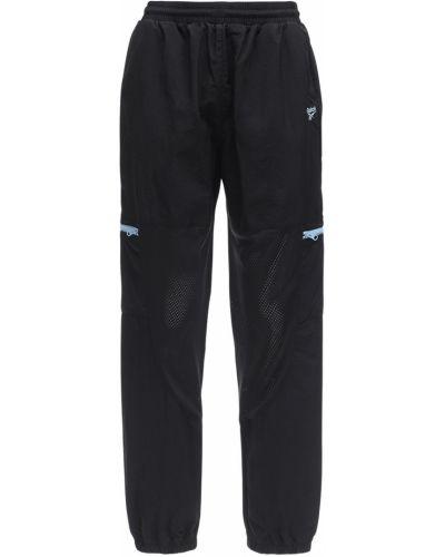 Черные брюки сетчатые с манжетами Reebok Classics