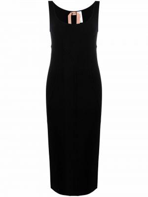 Шерстяное платье - черное N°21