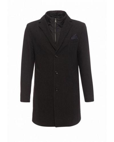 Черное пальто Piazza Italia