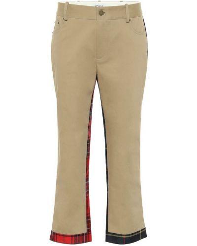 Ватные хлопковые укороченные брюки стрейч Monse
