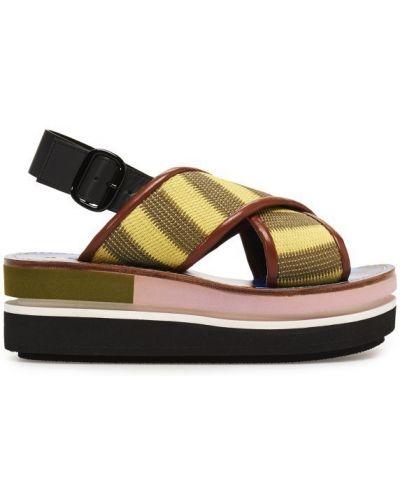 Зеленые сандалии Marni