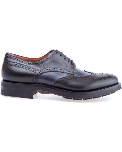 Кожаные ботинки броги итальянский Santoni