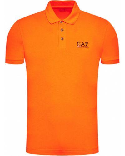 Pomarańczowe polo Ea7 Emporio Armani