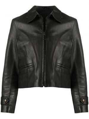 Черная кожаная куртка на молнии A.n.g.e.l.o. Vintage Cult