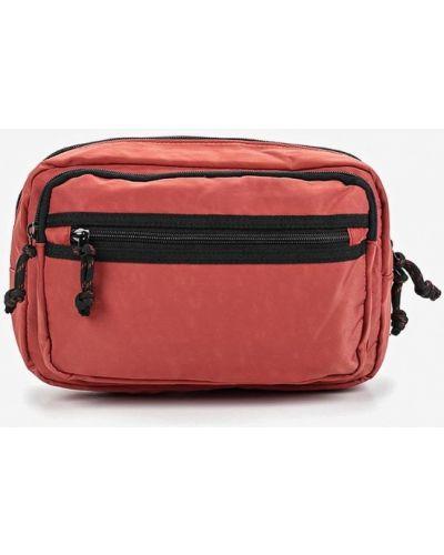 Поясная сумка нейлоновая красный Topman