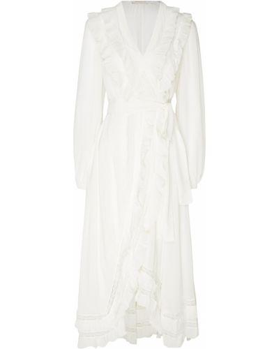 Платье макси с запахом со вставками Zimmermann