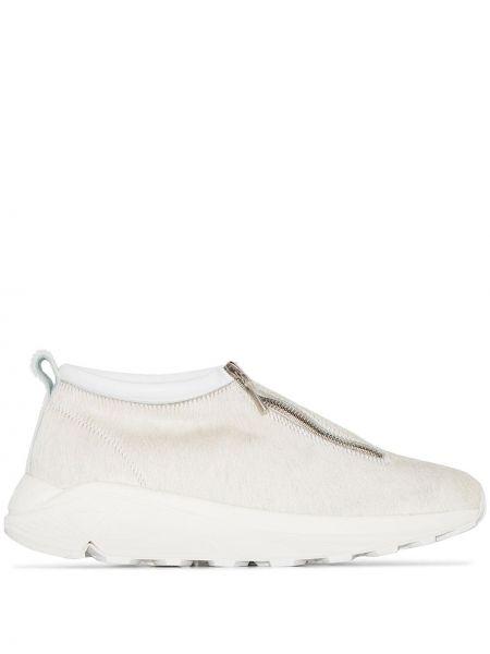 Белые шерстяные кроссовки на молнии Diemme