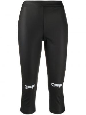 Спортивные брюки укороченные белые Off-white