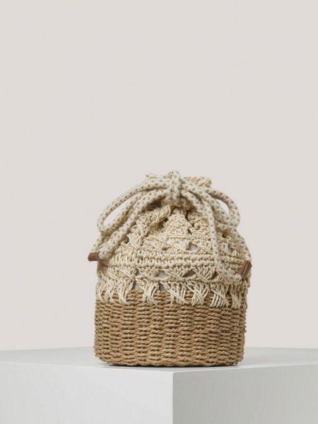 Пляжная сумка бежевый весенний Oysho