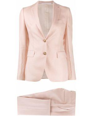 Różowy garnitur z paskiem z długimi rękawami Tagliatore