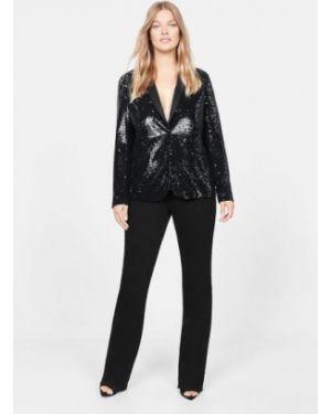 Пиджак черный с пайетками Mango