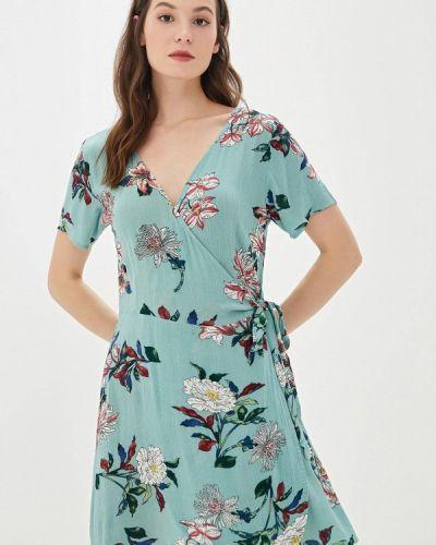 Платье с запахом бирюзовый Code