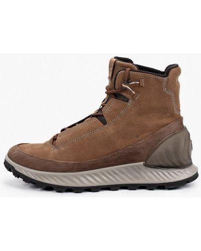 Коричневые ботинки из нубука Ecco