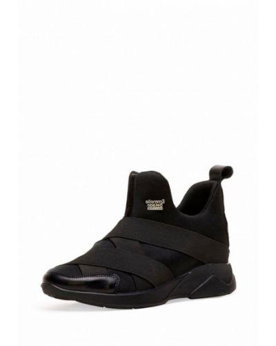 Черные высокие кроссовки Emmelie Delage