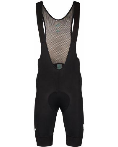 Спортивные черные облегающие шорты на бретелях Maap
