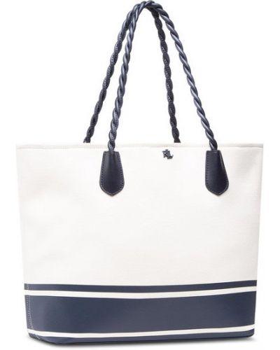 Biała torebka duża Lauren Ralph Lauren