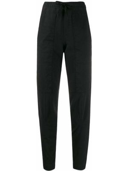 Хлопковые черные брюки карго с карманами узкого кроя A.f.vandevorst