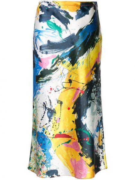 Прямая с завышенной талией юбка миди в рубчик на молнии Sies Marjan