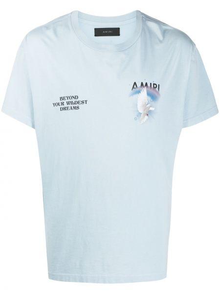 Koszula krótkie z krótkim rękawem z logo z nadrukiem Amiri