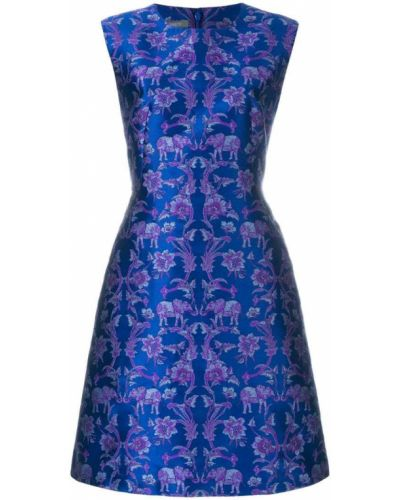 Синее платье Alberta Ferretti