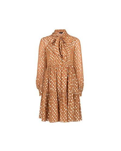 Коричневое повседневное платье Luisa Spagnoli