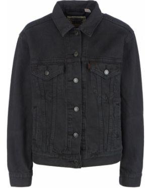 Джинсовая куртка черная с вышивкой Levi's®