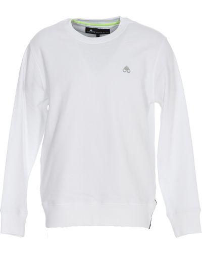 Biała bluza dresowa Moose Knuckles