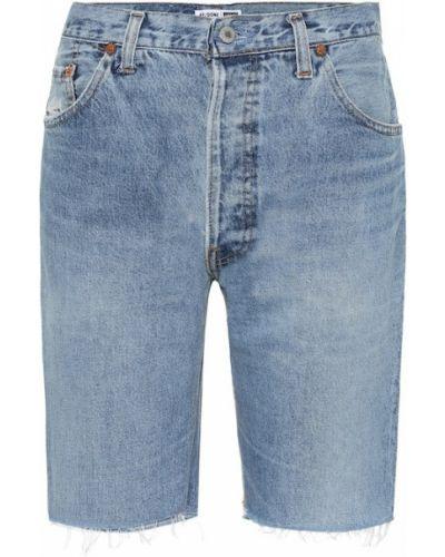 Bawełna niebieski bawełna jeansy zabytkowe Re/done