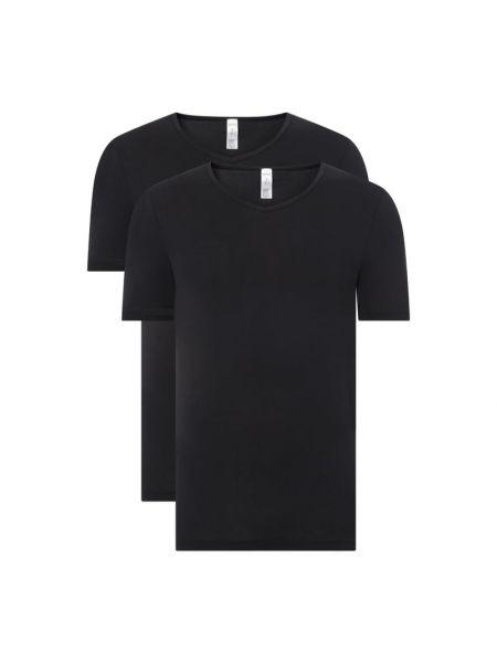 T-shirt bawełniana - czarna Skiny