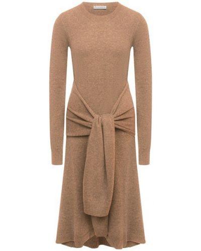 Шерстяное коричневое платье Jw Anderson