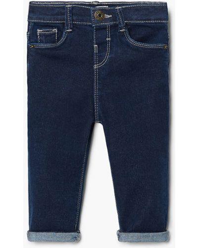 Бирюзовые джинсы с карманами Mango Kids