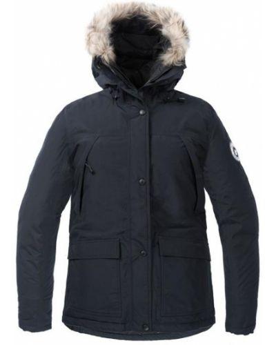 Утепленная куртка черная коричневая Red Fox