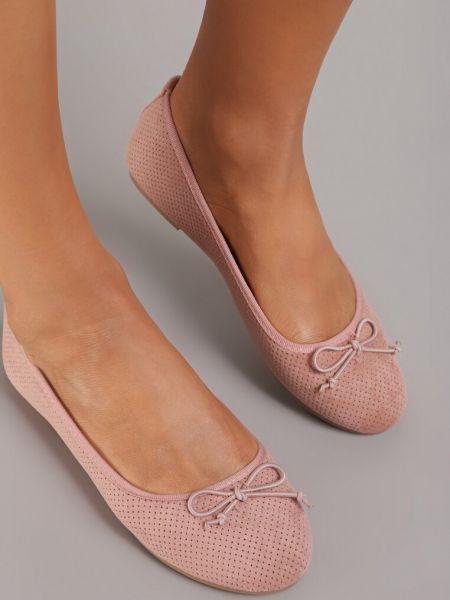 Różowe balerinki Renee