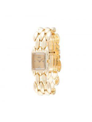 Со стрелками золотистые кварцевые часы золотые Omega