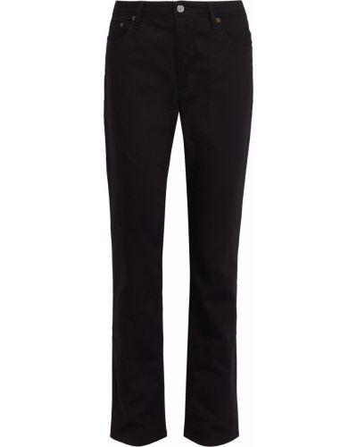 Czarne jeansy bawełniane z paskiem Acne Studios