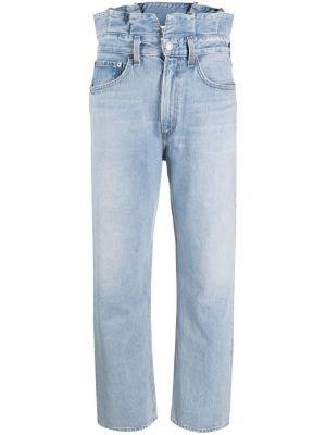 Синие прямые джинсы классические с карманами Agolde