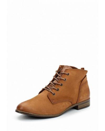 Коричневые ботинки из нубука Tamaris