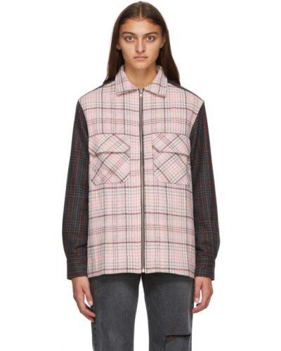 Flanelowa różowa koszula z długimi rękawami Noon Goons