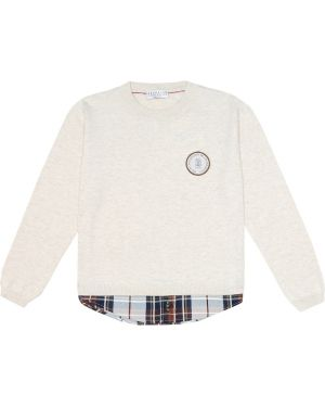 Sweter beżowy Brunello Cucinelli Kids