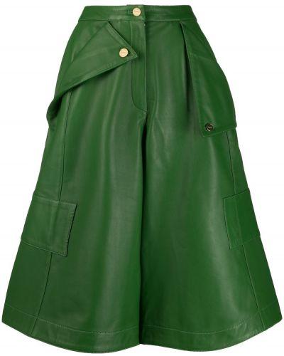 Укороченные брюки зеленый с завышенной талией Jacquemus