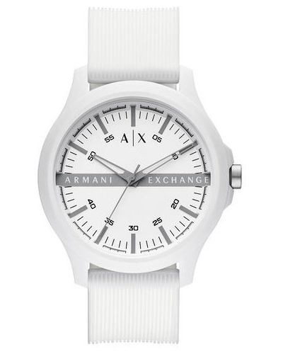 Biały zegarek Armani Exchange