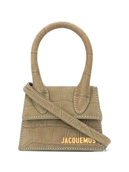Желтая кожаная сумка-тоут круглая Jacquemus