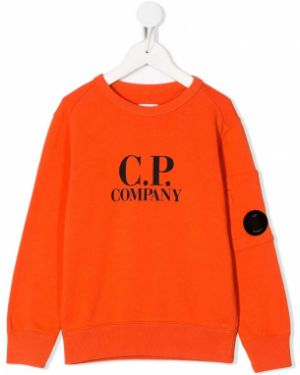 Толстовка оранжевый Cp Company Kids