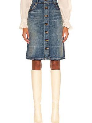 Spódnica jeansowa - niebieska Saint Laurent